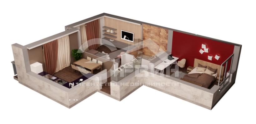 2-комнатная квартира Марата, Улица, Калининград