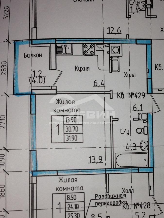 Квартира на продажу по адресу Россия, Калининградская область, Калининград, Л.Шевцовой, Бульвар, 51