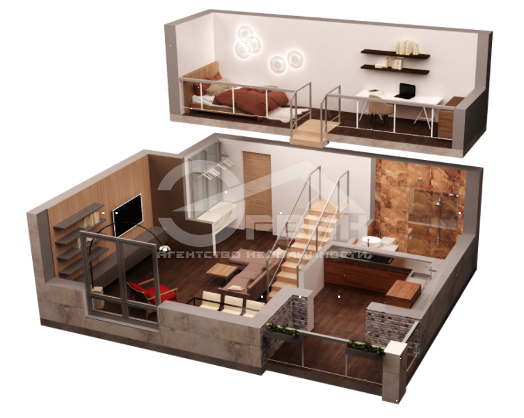1-комнатная квартира Марата, Улица, Калининград